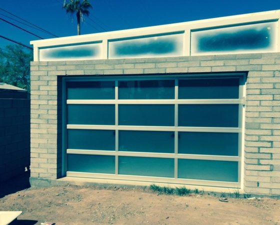 Garage Door Made of Glass